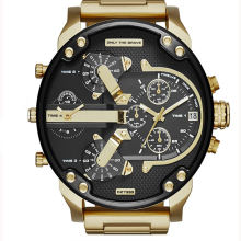 2017 luxury japan movt quartz watch stainless steel back mens watch best quality gold watch OEM/ODM