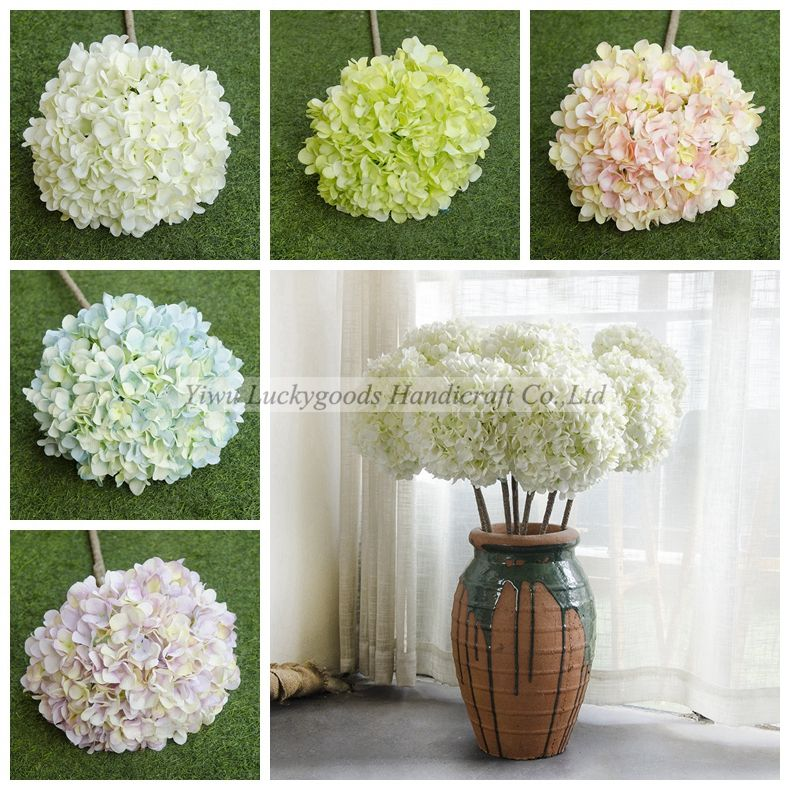 LF515 wedding hotel restaurant wholesale luxury large hydrangea stem