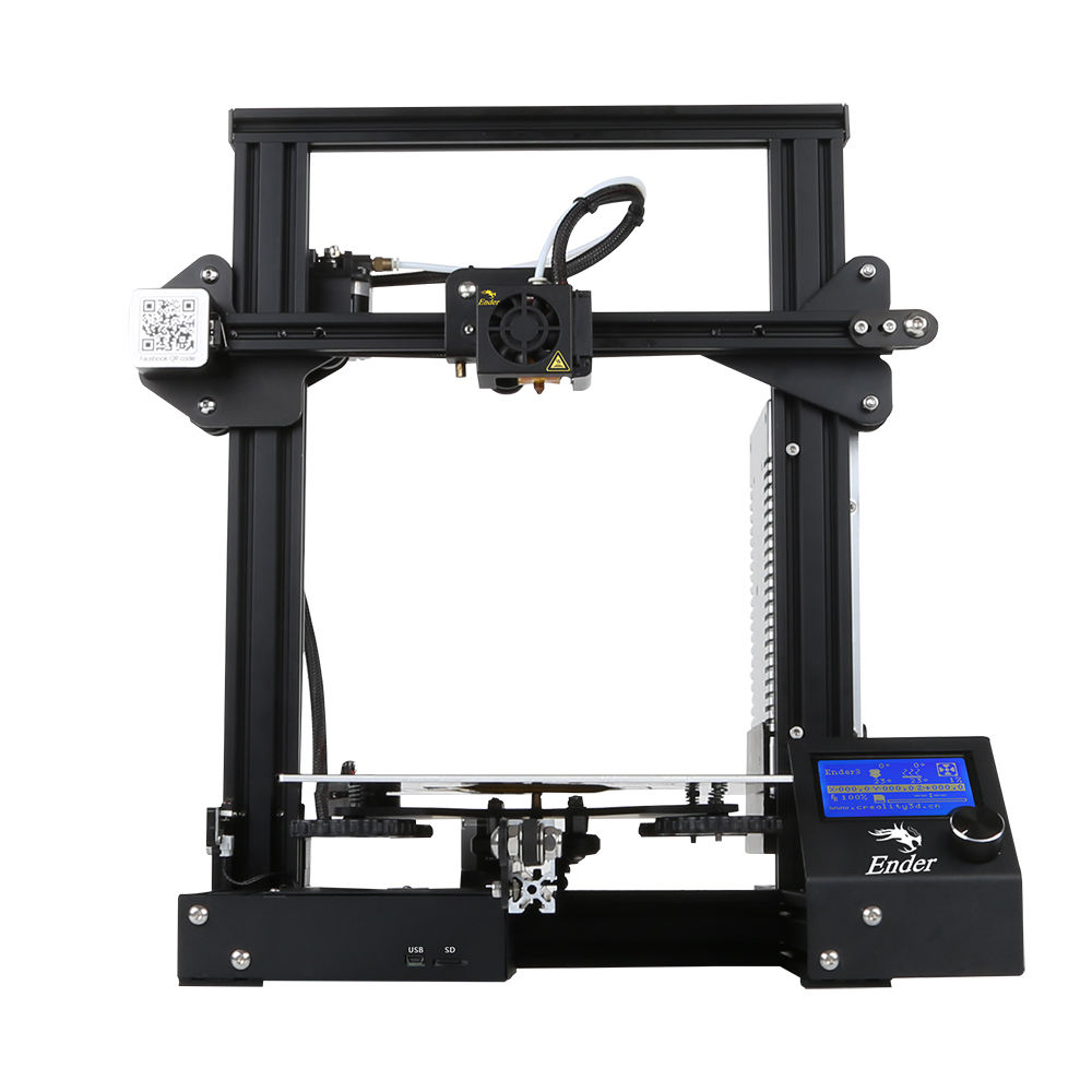 2019 hot selling Creality Ender 3 3D Printer Aluminum DIY with Resume Print 220x220x250mm for home use or education