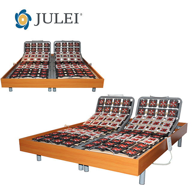 Queen size metal bed frame parts for electric adjustable bed