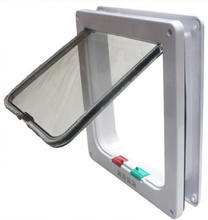 Pet Supplies Pet Dog Door Replacement Cat Flap 4 Way Locking Cat Flap Door