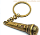 Wholesale Mini Antique Cute Microphone Made Metal Keychain For Suvenirs