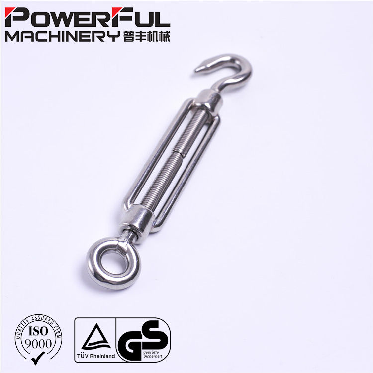 Stainless Steel Sus 316 DIN 1480 Open Body Turnbuckle with Eye and Eye