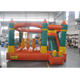 Orange indoor mini bouncy castle with slide , bounce house for kids