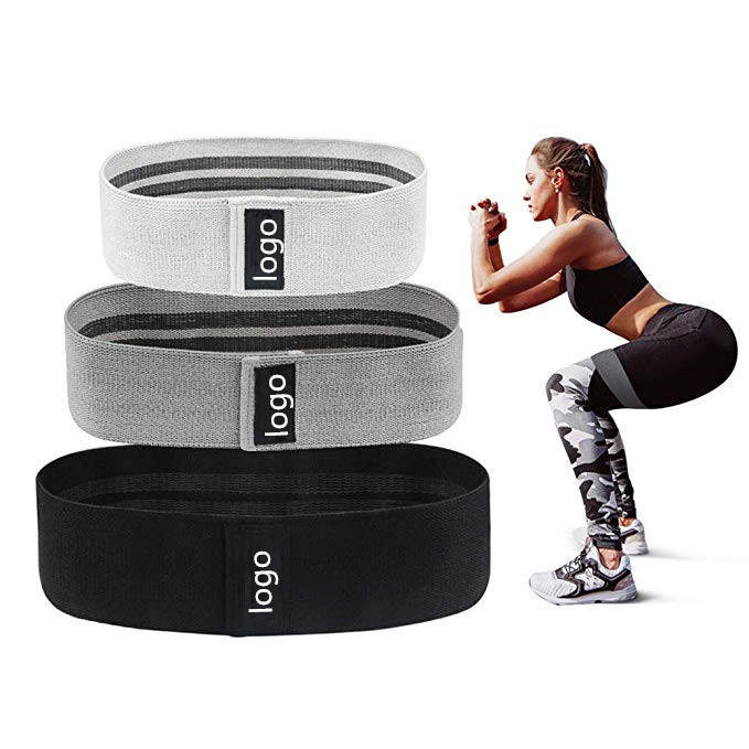 Amazon hot sale fabric cotton glute circle booty bands custom wholesale hip resistance bands