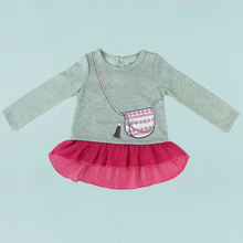 clothing kids rose color French terry fabric for girls clothes 3pcs sets