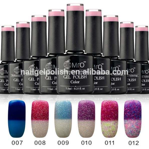 Nail supply temperature color changing paint uv light gel for kit gel uv
