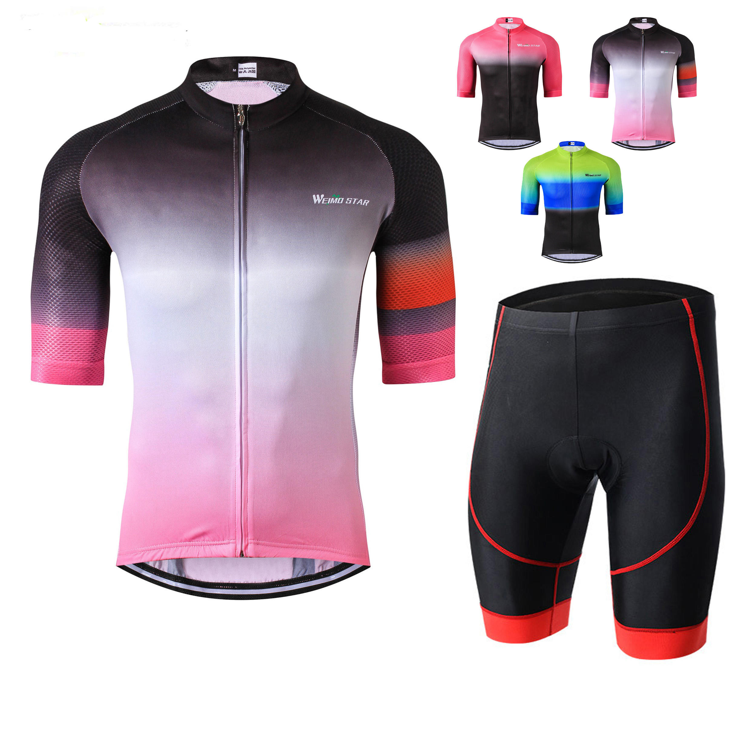 Pro Team Manufacturer Bicycle Clothes Wholesale Short Sleeve Cycling Jersey Set Men Bib Shorts mtb Road Bike Jersey Kits