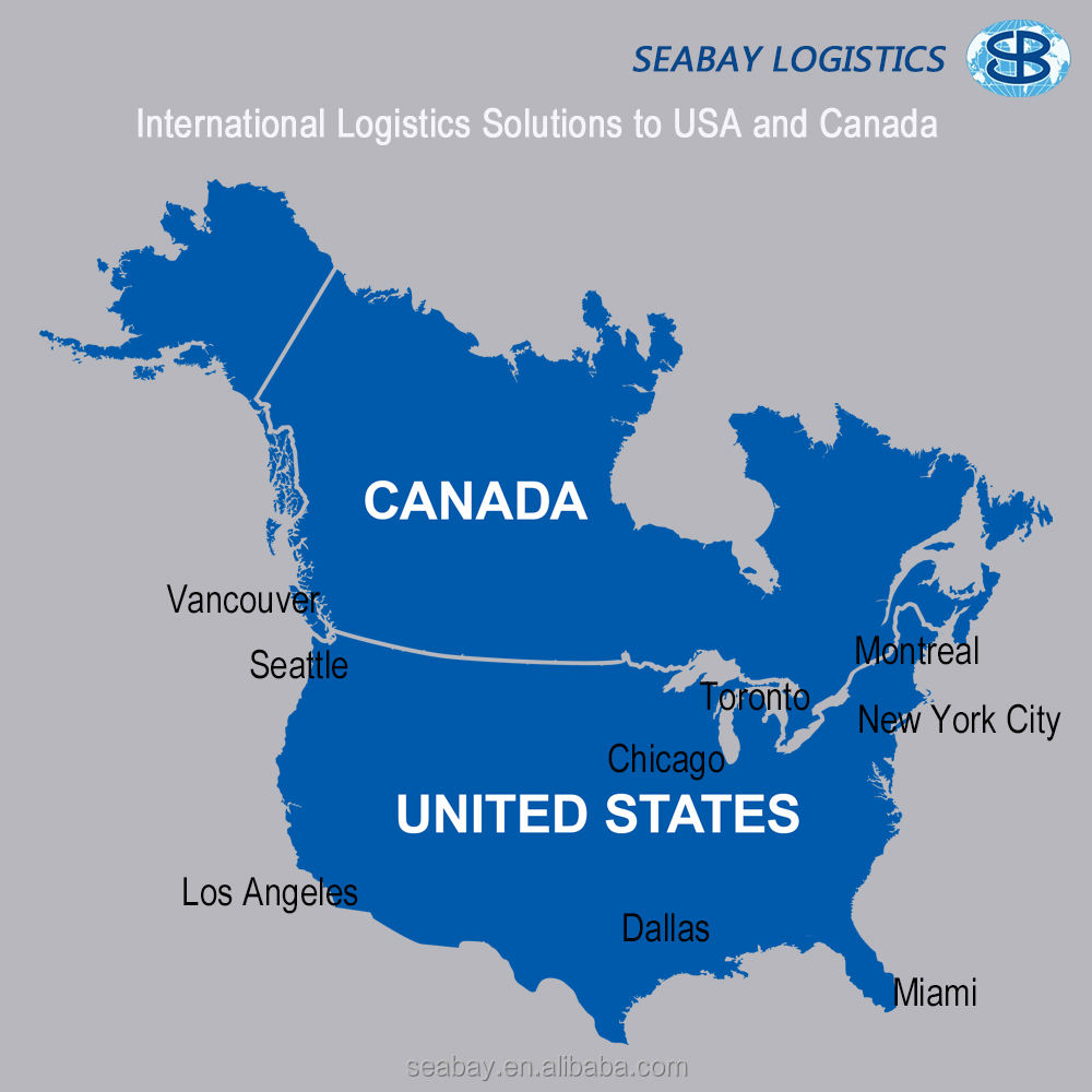 Sea Freight Shipping Rates Service to Canada USA US United States from China Guangzhou Shenzhen Shanghai Ningbo Qingdao