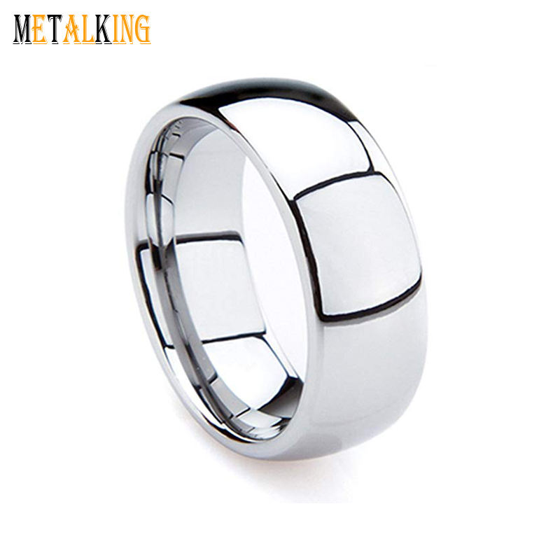 8mm High Polished Tungsten Carbide Ring Mens Wedding Band 2mm/4mm/6mm