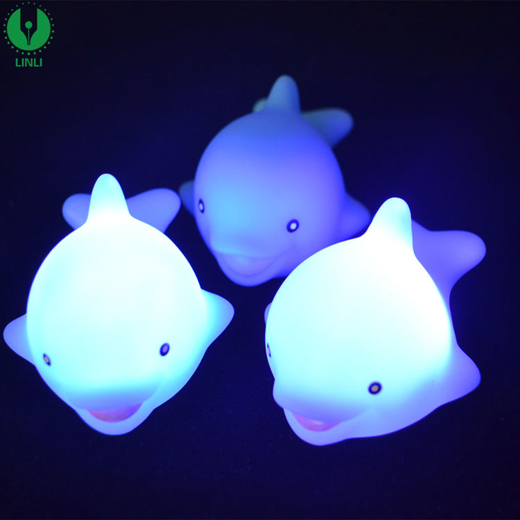 Floating Bath Light, Cute Animal Shape Night Light, Liquid Activated Light