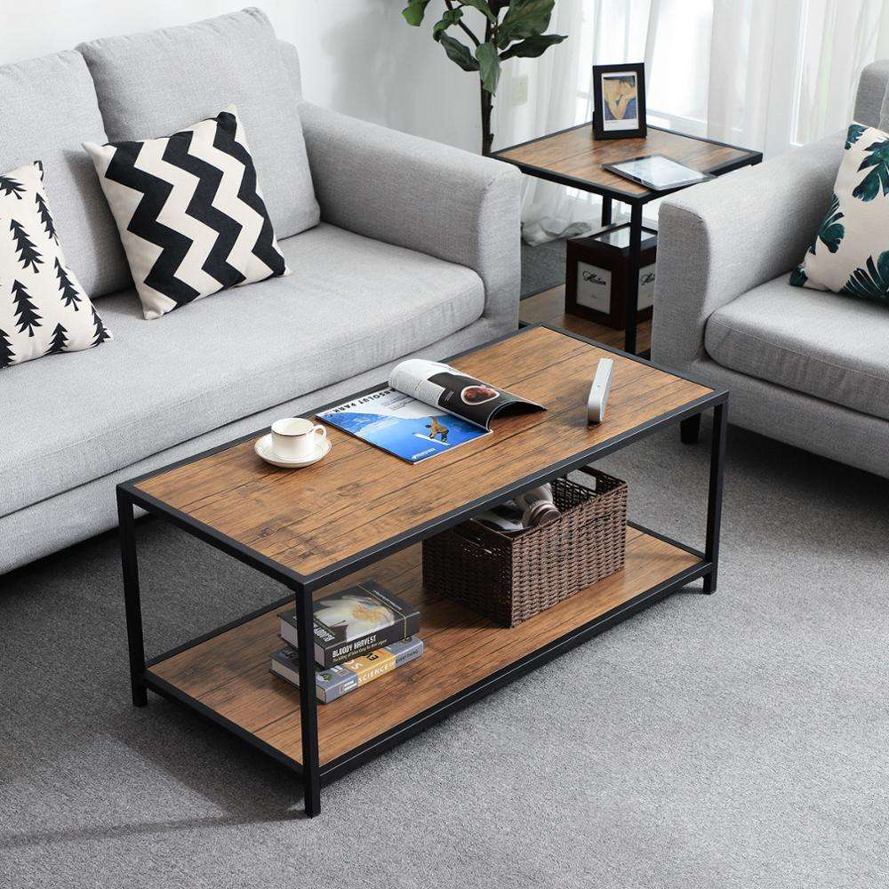 China Furniture Wholesale Wood Industrial Coffee Table Cocktail Table Chairs