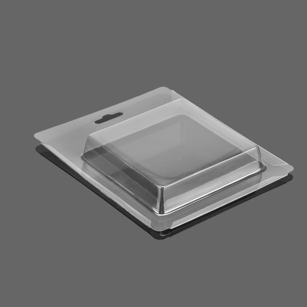 customized disposable plastic clamshell edgefold sliding blister card packaging