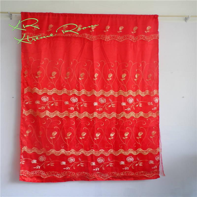Gros rideau en stock sur ligne Double Brodé <span class=keywords><strong>voile</strong></span> cantonnière rideau clairance de prix Bas