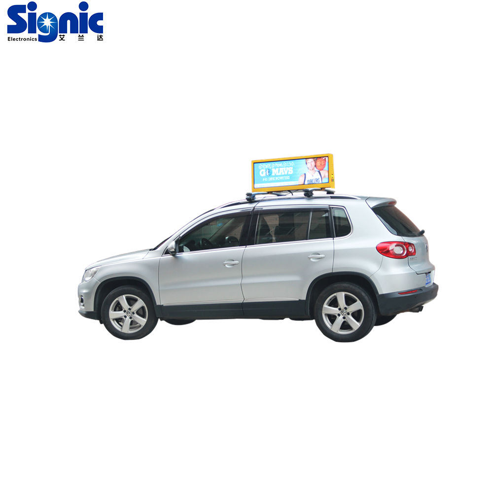 Signic heißer verkauf outdoor P5 hohe auto <span class=keywords><strong>taxi</strong></span> <span class=keywords><strong>dach</strong></span> zeichen werbung billboard led display zeichen licht box