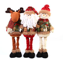 Hot sale 58cm reindeer Christmas doll Christmas decorative stuffed Plush standing fabric Santa Claus