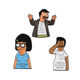 QIHE Everything Is Fine Complaining Bob's Burgers Pins Bob Tina Cartoon Characters Brooches Quote Lapel Pins