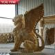 Lion Statue Outdoor Natural Marble Lion With Wings Statue