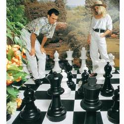 Giant plastic garden chess - delivery from Poland/Europe. Chess sets with the King height of 64 till 122 cm