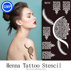 Long Lasting Hand And Leg Henna Tattoo Stencil For Painting Airbrush