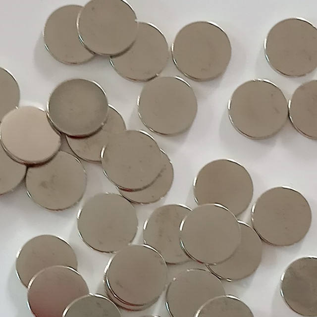 Bulk strong thin neodymium magnet for sale N35,nickel coated,D20*1.5mm