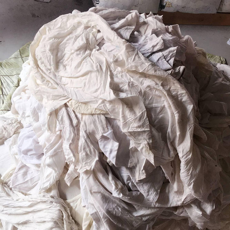 Second Hand White Used Clothing Rags with Best Price