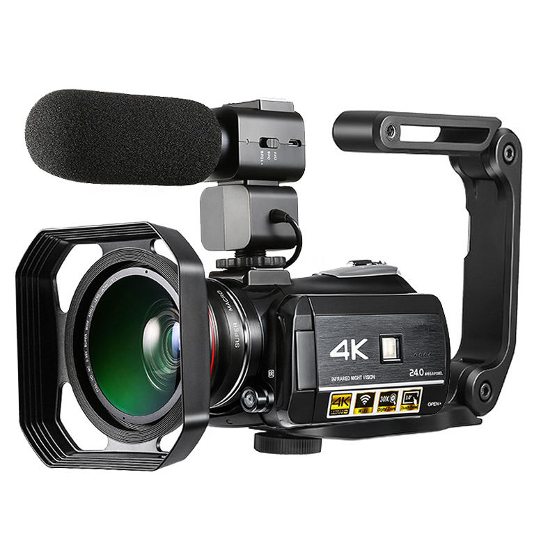 Winait professional 4k digital video camera with 3.0'' touch display and wifi