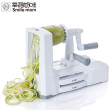 Smile mom Stainless Steel 5-blades Vegetable Spiralizer Spiral Slicer Potato Spiralizer