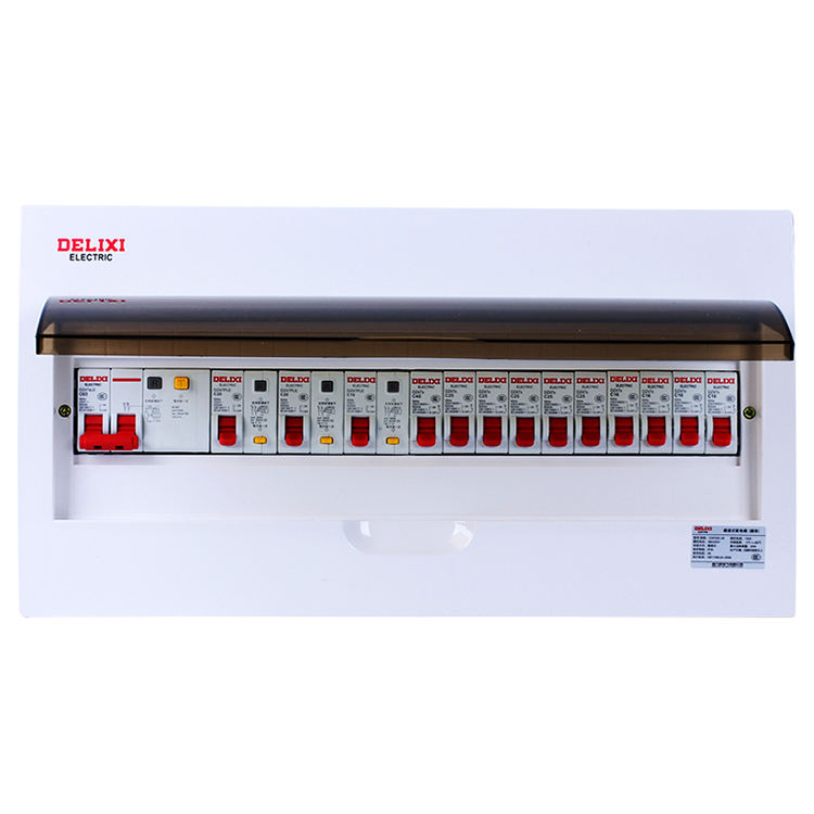DELIXI concealed waterproof 24 way plastic 3 phase types of electrical panel board power distribution box manufacturers