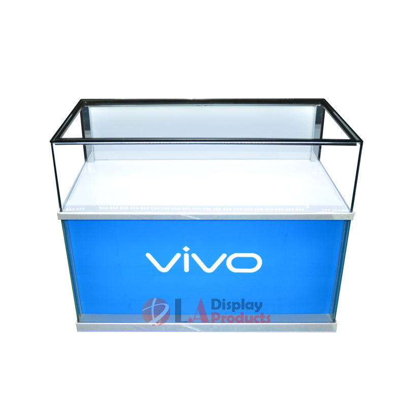 Factory supply mobile phone glass display cabinet metal display showcase