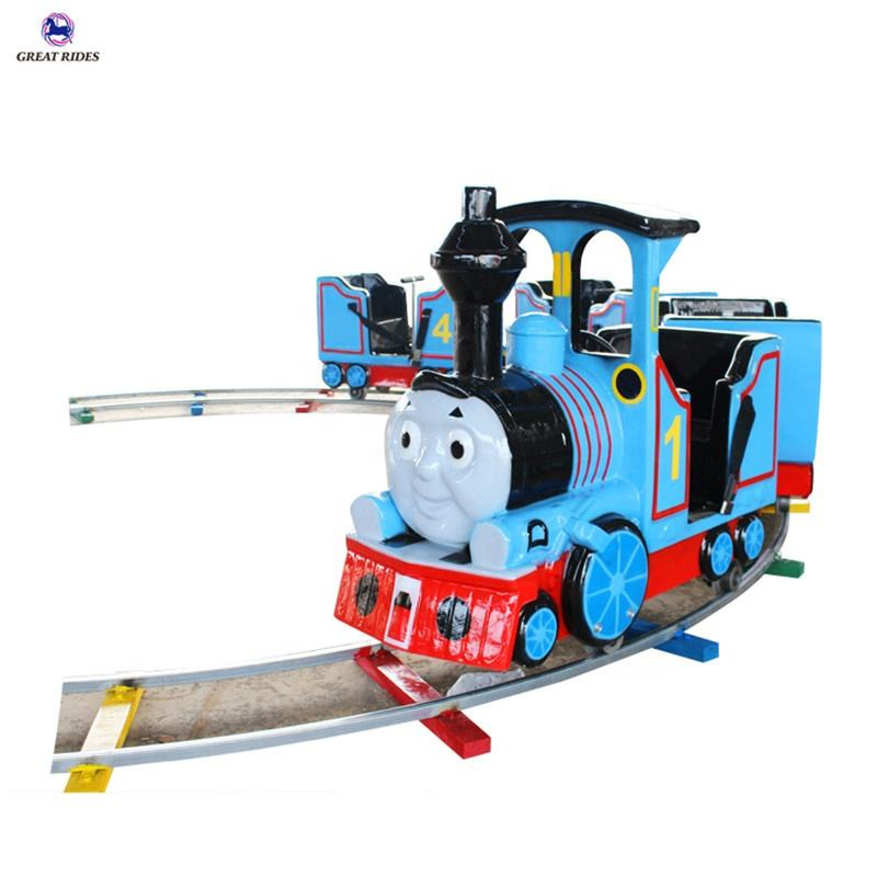 Lovely design shopping center kid amusement game electric Thomas mini track train ride for sale
