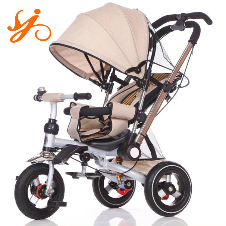 China wholesale baby tricycle with trailer/ kids tricycle kids 1-6 years old / new design children tricycle bike with roof