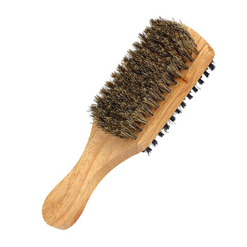 100 % Boar Reinforced Bristle Hard Soft Beard Brush For Hair & Grooming Medium Shaving Brush Beard Styling Combs
