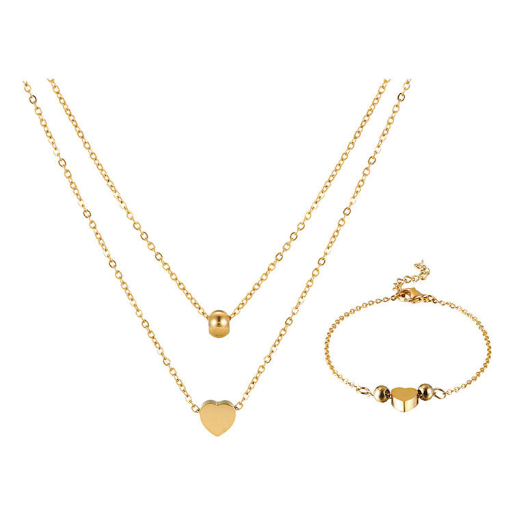S-295 Xuping gift jewellery set, bridal african 24K gold plating jewellery, stainless steel necklace bracelet jewelry set