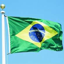 100% polyester Fast delivery high quality brazil club flag