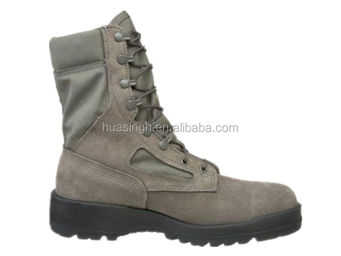 ultra light US air combat steel toe sage green military boots for hot weather