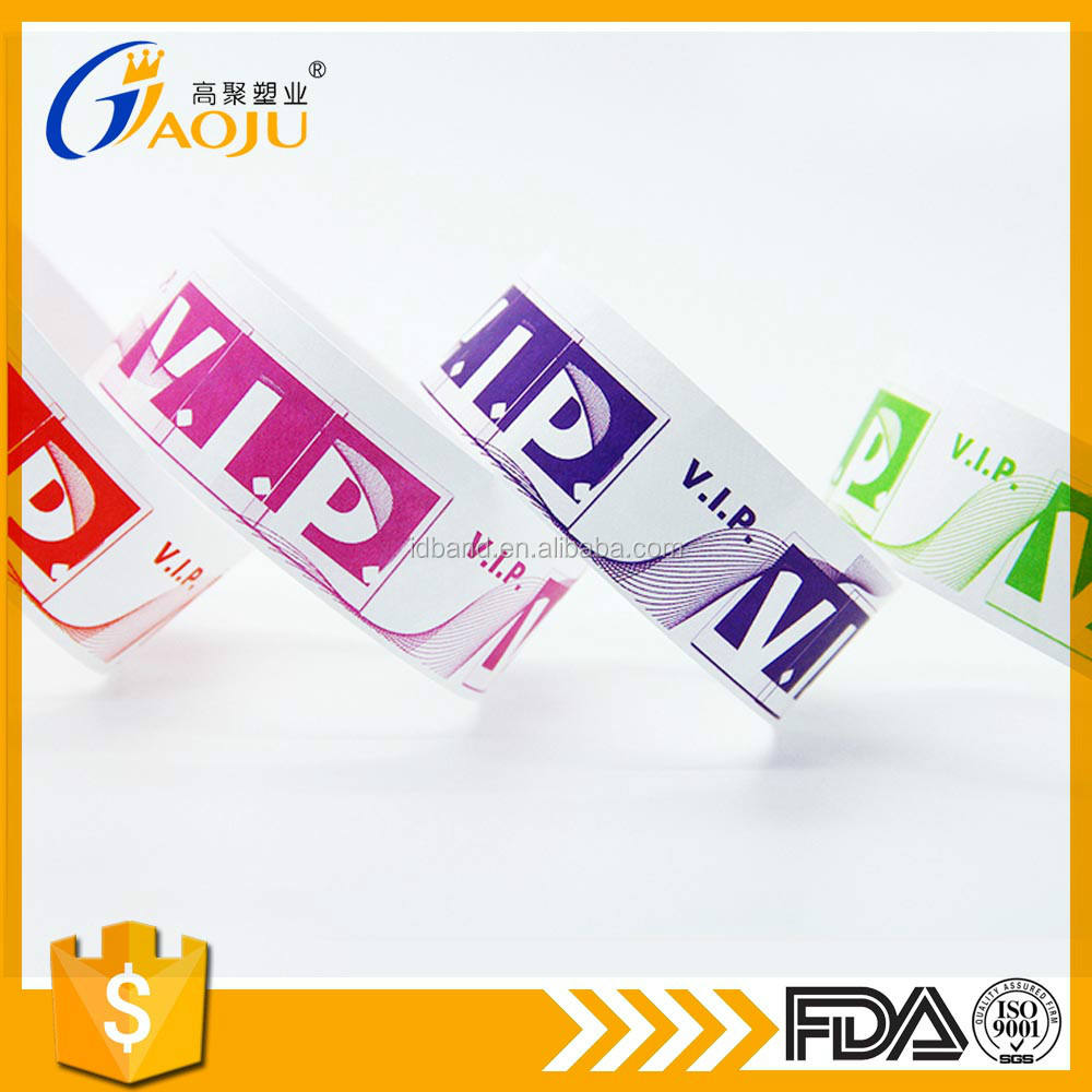 Customed VIP tyvek id bands for party