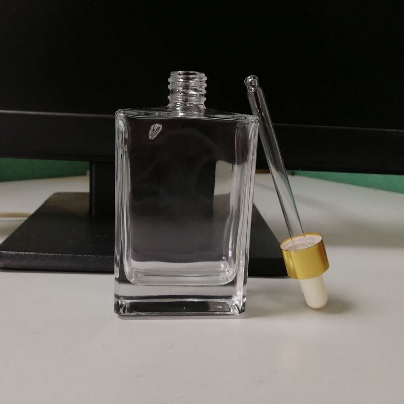 Rectangle (gorilla Glass) Dropper 병 100 ml 와 금 캡 와 Bubble 끝 Finish (gorilla Glass) 피펫 대 한 에센셜 Oil/향수