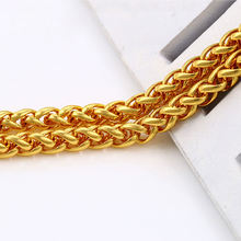 xuping hop rap men's 24K gold rope necklace fashion chains necklace jewelry