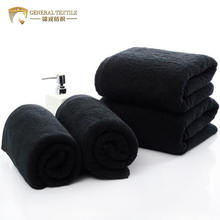 bleach proof 100% Cotton 16S 40cm*80cm 180g black spa hair salon towel