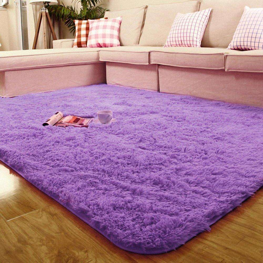 Ultra Soft 4.5 cm Thick Indoor Morden Shaggy Area Rugs