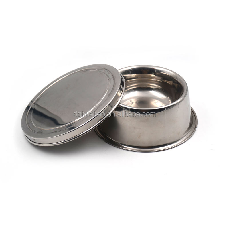 stainless steel pet bowl with lid/stainless steel dog pet feeder with lid