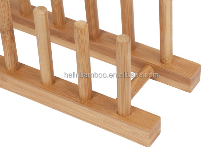 Bamboo/Wood dishes rack plates rack CDs rack BSCI