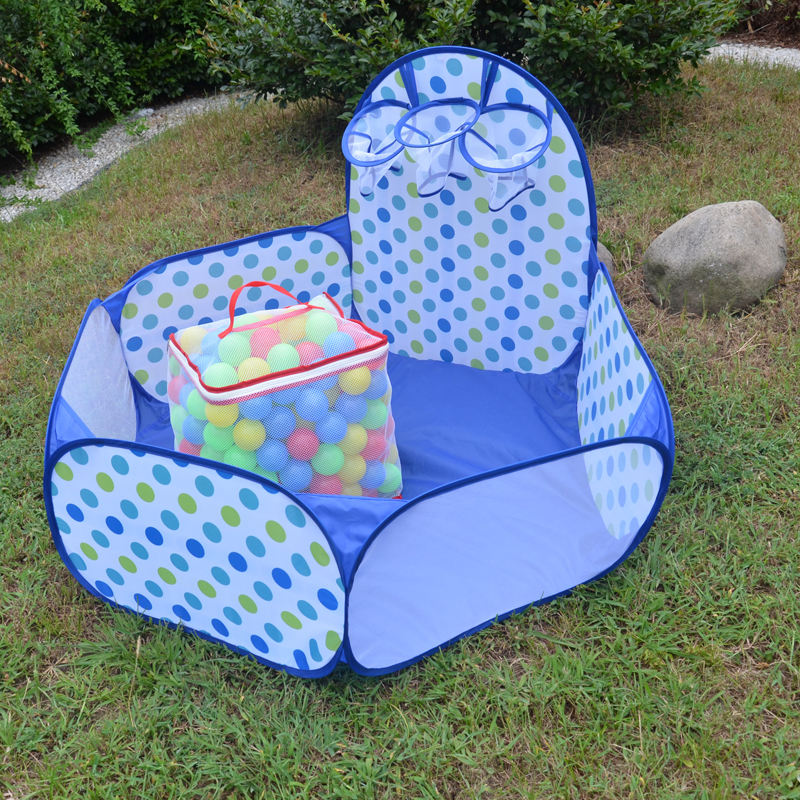 Mudder Kids Ball Pit Playpen Toddler Play Tent Sea Ball PoolとMini Basketball HoopとZipper Storage Bag、4 Feet/ 120センチメートル、B