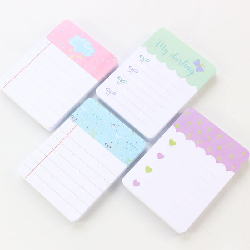 cute kawaii Korea school sticky writing notes pad stationery,candy student portable message memo pad,80sheets