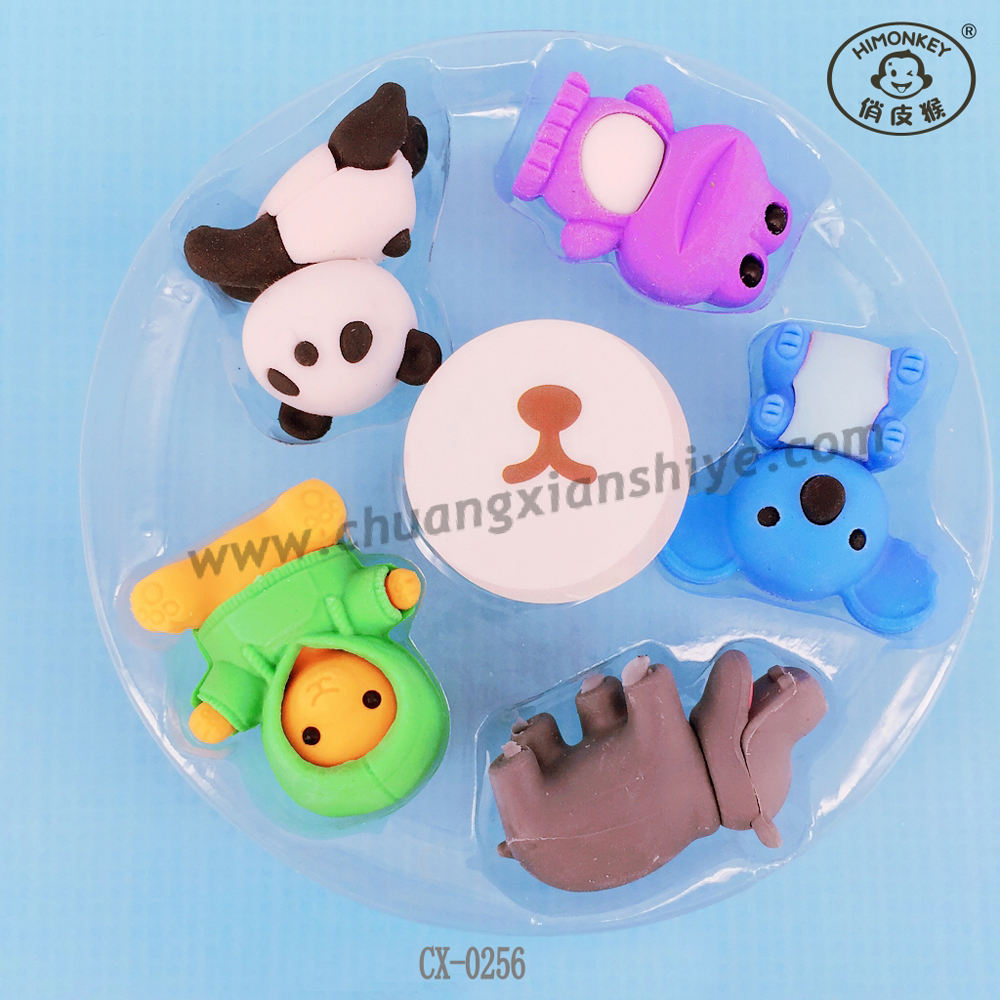 Cheap price hot selling in animal 3d erasers with different shape