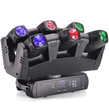 Marslite 6pcs 10W LED Stage Light Six Shooter RGBW 4in1 LED Moving Head Light Night Club Dj Equipment