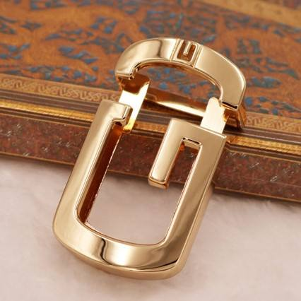 New Fashion Factory Price Shinning Gold Plating Simple Zinc Alloy Press Belt Buckle