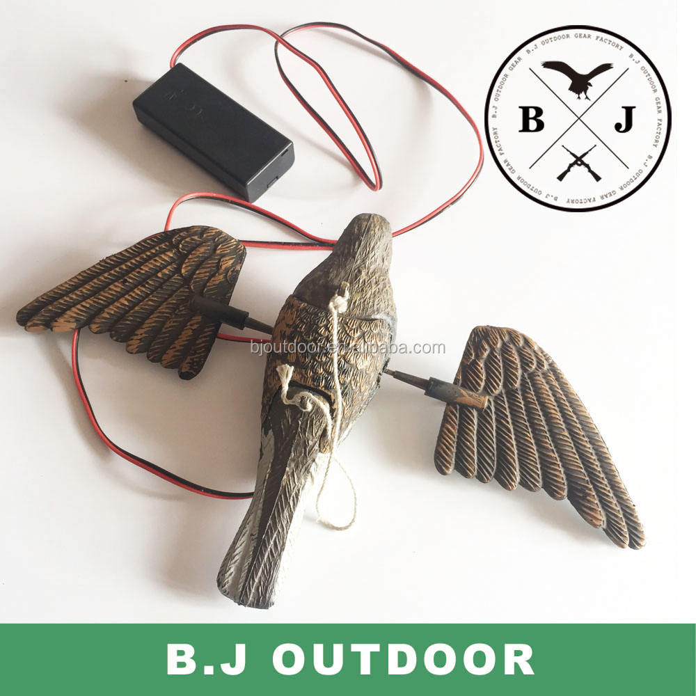 Electric plastic bird decoy for hunting, decoy birds hunting caller from BJ Outdoor
