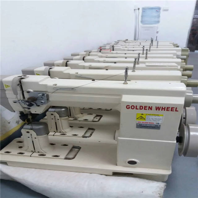 810/820 gloden wheel used Sewing machine single double needle stich high post bed sewing machine